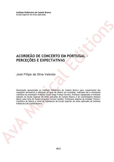 Picture of Acordeão de concerto em Portugal – Percepções e expectativas