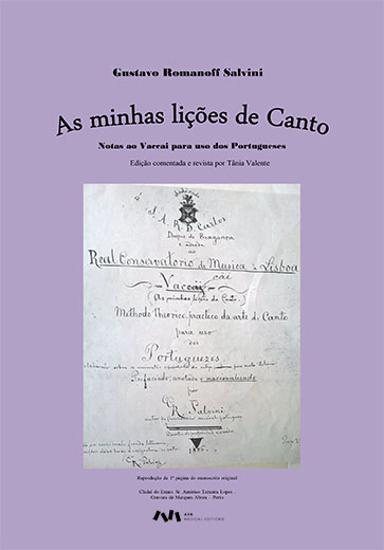 Picture of As minhas lições de canto: Notas ao Vaccai para uso dos Portugueses